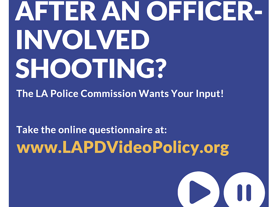 Should Officer Involved Shooting Video Be Made Public? Let the Police Commission Know By May 7.